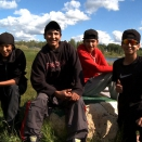 Webequie boys put on their biggest smiles, hoping to get scouted by a talent agent